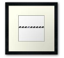 Unique Elephant Framed Print
