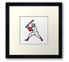 Black Panther Baseball Player Batting Isolated Framed Print
