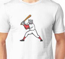 Black Panther Baseball Player Batting Isolated Unisex T-Shirt