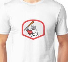 Black Panther Baseball Player Batting Cartoon Unisex T-Shirt