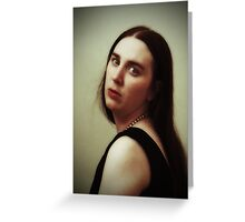 Girl With No Pearl Earring Greeting Card