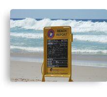 Beach Report Canvas Print