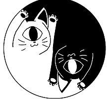 yin nyang by 666bot