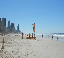 Surfers Paradise from Broadbeach Beach Easter Saturday by FangFeatures