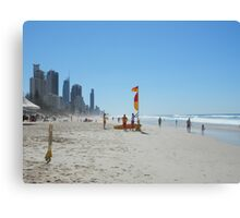 Surfers Paradise from Broadbeach Beach Easter Saturday Canvas Print