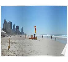 Surfers Paradise from Broadbeach Beach Easter Saturday Poster