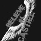 Believe in Castiel -- light graffiti by webgeekist