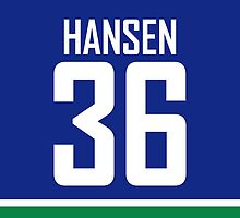 Vancouver Canucks Jannik Hansen Jersey Back Phone Case by Russ Jericho