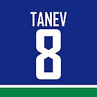 Vancouver Canucks Chris Tanev Jersey Back Phone Case by Russ Jericho