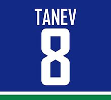 Vancouver Canucks Chris Tanev Jersey Back Phone Case by RussJericho23