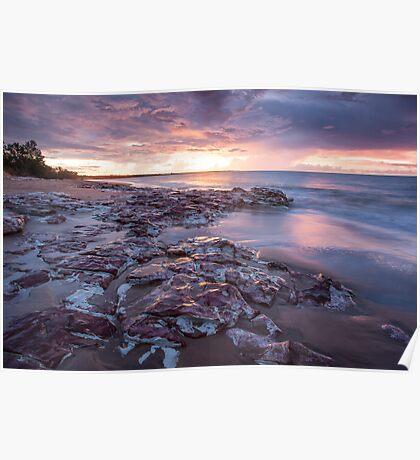 Wagait Beach Storm Colours Poster