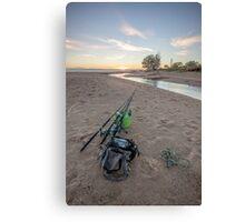 West Point Fishing Sunrise Canvas Print