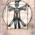 The Vitruvian mad hatter (collaboration with Blake) by Jenny Wood