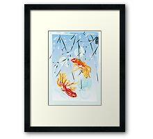 FISHES FENG SHUI Framed Print
