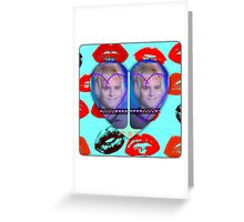 I LOVE YOU SHARON!!!!!!!!!!! with lips Greeting Card