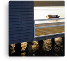 Boathouse sunset Canvas Print