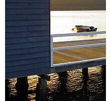 Boathouse sunset Photographic Print