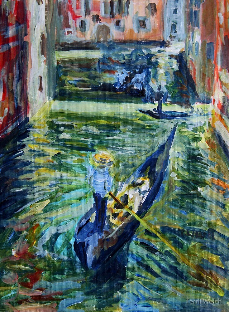 Afternoon canal watch in Venice Italy by TerrillWelch