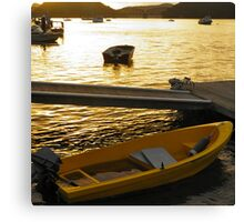 Dinghy Sunset Canvas Print