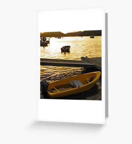 Dinghy Sunset Greeting Card