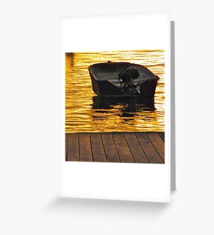 Dinghy at night Greeting Card