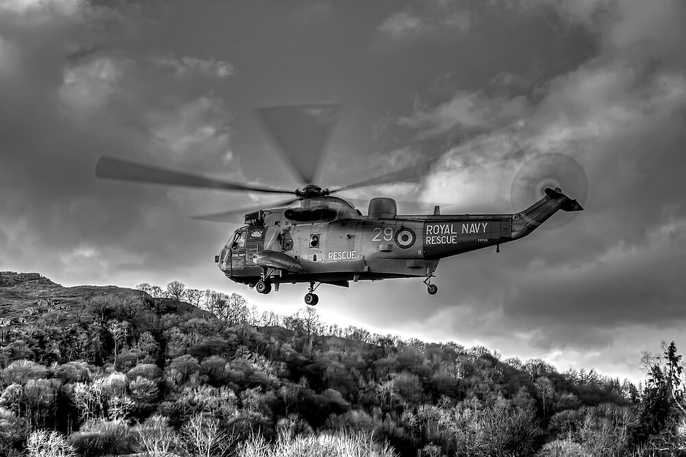 Sea King Helicopter by Roger Green