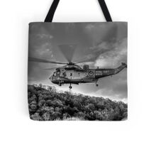 Sea King Helicopter Tote Bag
