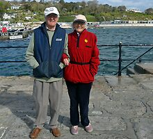 Holidaymakers at Lyme, Dorset  uk by lynn carter