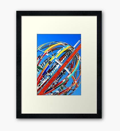 Whirligig Top 4 Framed Print