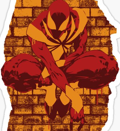 Iron Spider Spray Painted Sticker