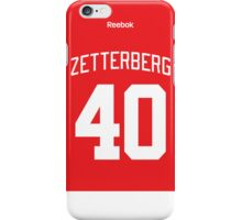 Detroit Red Wings Henrik Zetterberg Jersey Back Phone Case iPhone Case/Skin