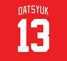 Detroit Red Wings Pavel Datsyuk Jersey Back Phone Case by Russ Jericho