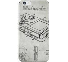 Game Boy Original Patent iPhone Case/Skin