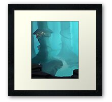 Forest of the mist Framed Print