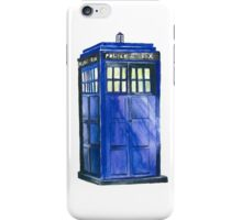 The TARDIS - Doctor Who Inspired Watercolour iPhone Case/Skin
