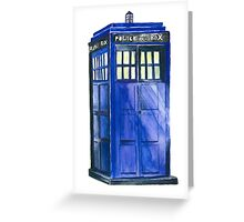 The TARDIS - Doctor Who Inspired Watercolour Greeting Card