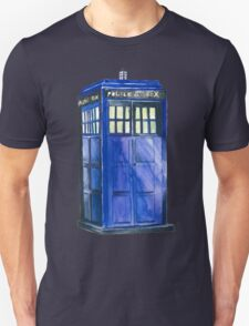 The TARDIS - Doctor Who Inspired Watercolour T-Shirt