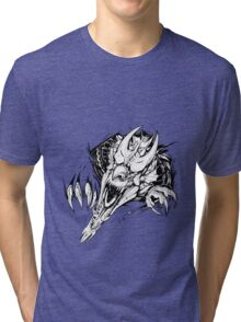 Breaking out - Welsh dragon Tri-blend T-Shirt