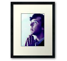 Prayer in Blue Framed Print