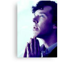 Prayer in Blue Canvas Print