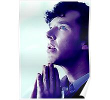 Prayer in Blue Poster