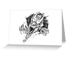 Breaking out - Welsh dragon Greeting Card
