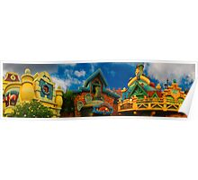 Toon Town Skyline Poster