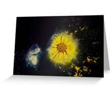 Digitally manipulated image of a white butterfly and yellow flower Greeting Card