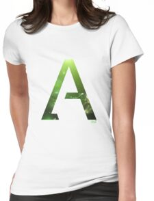 Alpha letter space concept Womens Fitted T-Shirt