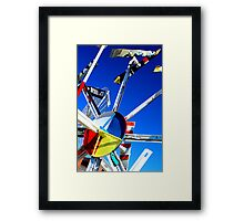 Whirligig Top 7 Framed Print