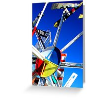 Whirligig Top 7 Greeting Card