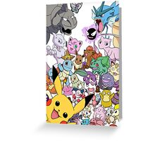Pokemon! Greeting Card