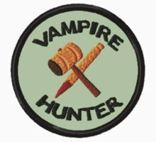 Vampire Hunter Geek Merit Badge by storiedthreads