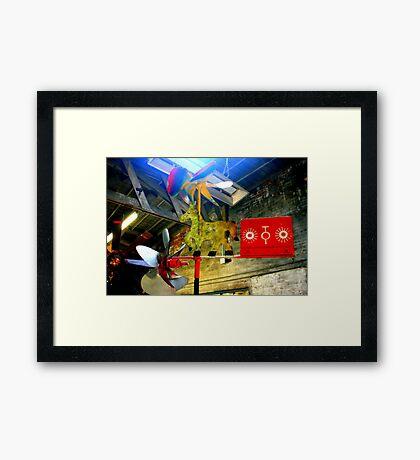 Whirligig Top 8 Framed Print